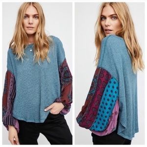 Free People | Blossom Blue Thermal Long Sleeve L